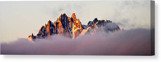 Sunrise On An Island In The Sky Canvas Print
