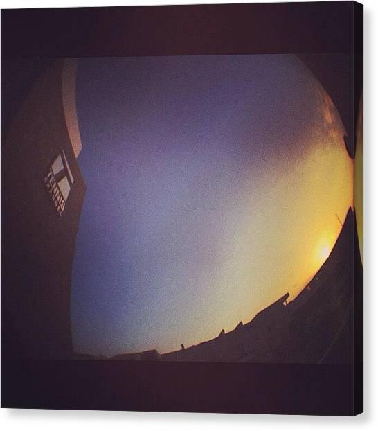 Tennis Canvas Print - #sunrise On Another #grandslam Segment by Brett Connors