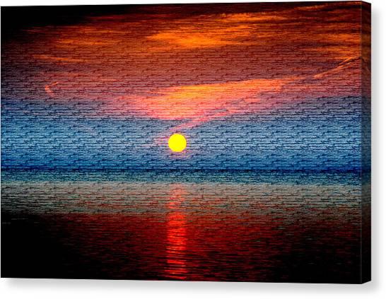 Sunrise On Brushed Metal Canvas Print