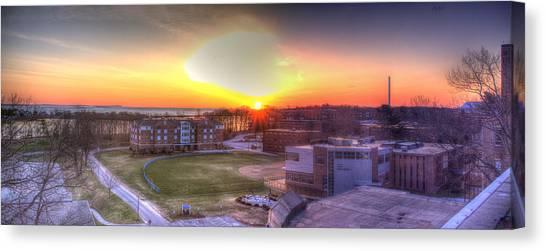 Sunrise On Campus Canvas Print
