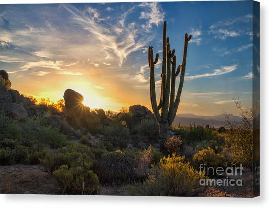 Sunrise On Granite Mountain Canvas Print