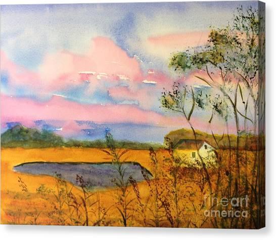 Sunrise On Patcong Creek Canvas Print