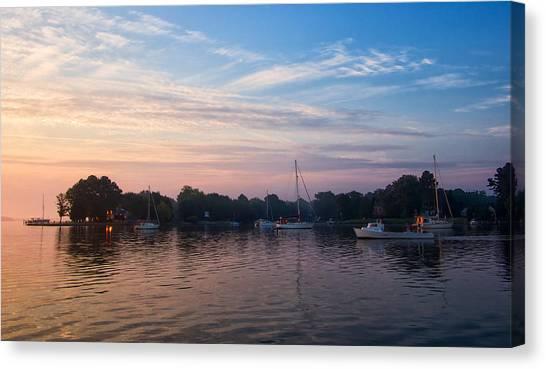 Sunrise On St. Michaels Md Harbor Canvas Print