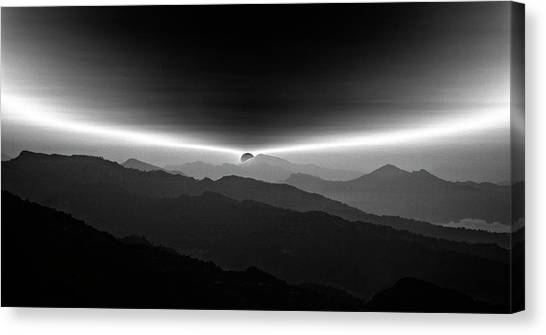 Mountain Ranges Canvas Print - Sunrise On The Anapurna by Yvette Depaepe