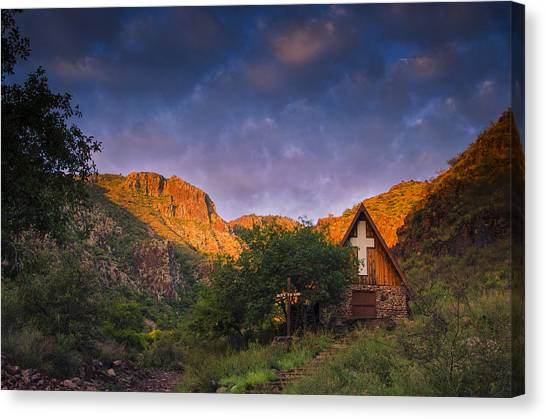 Boy Scouts Canvas Print - Sunrise On The Chapel by Aaron Bedell