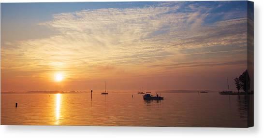 Sunrise On The Chesapeake Bay Canvas Print