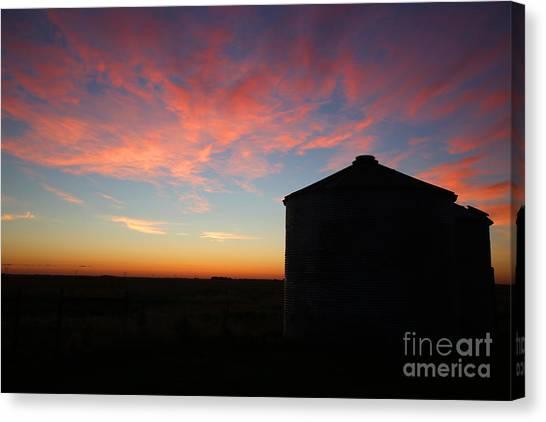 Sunrise On The Farm Canvas Print