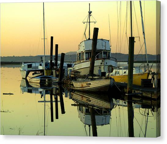 Sunrise On The Petaluma River Canvas Print