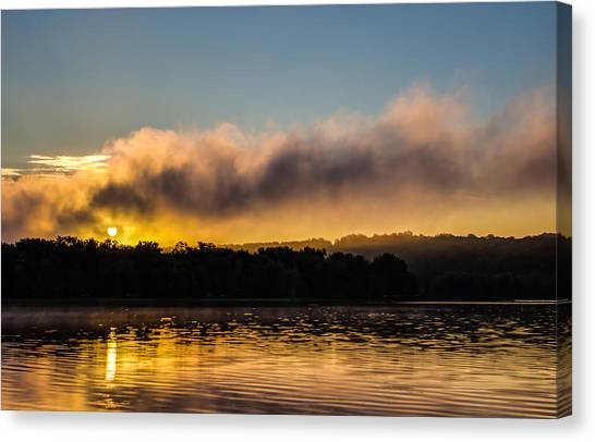 Sunrise On The St. Croix Canvas Print