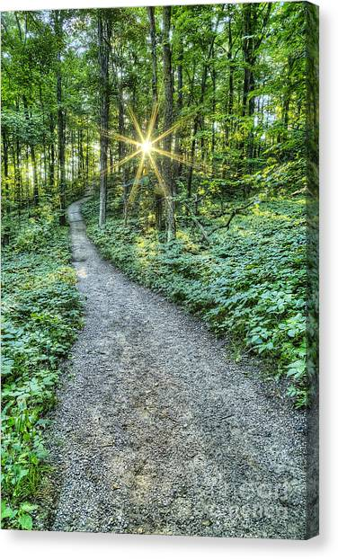 Oneida Canvas Print - Sunrise On The Trail by Twenty Two North Photography