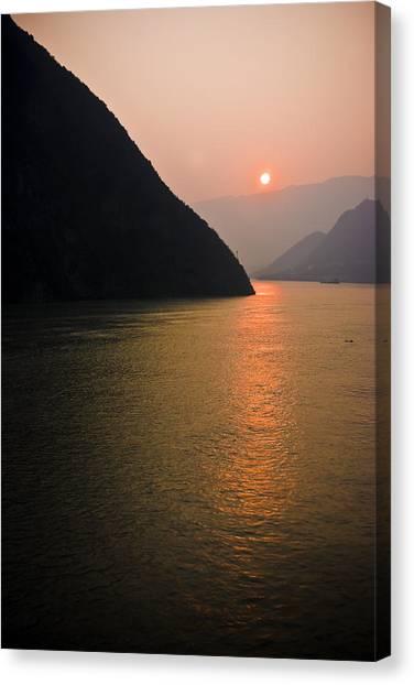 Sunrise On The Yangzi Canvas Print