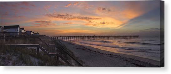 Sunrise On Topsail Island Panoramic Canvas Print