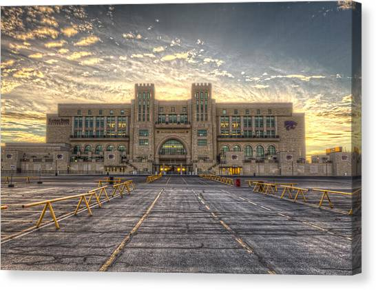 Kansas State University K-state Canvas Print - Sunrise On Wildcat Nation by Corey Cassaw