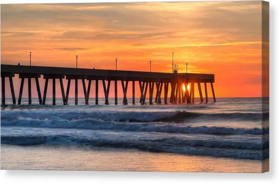 Sunrise On Wrightsville Beach Nc Canvas Print