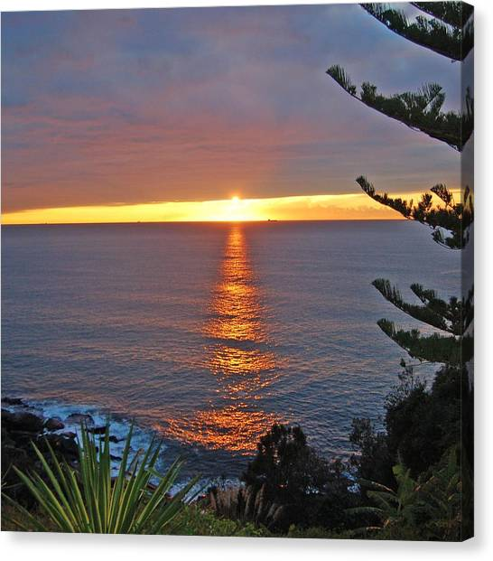 Sunrise Opening Canvas Print