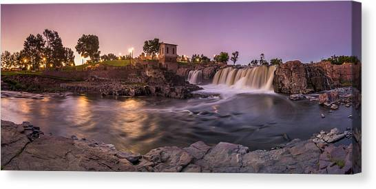 Sunrise Over Falls Park Canvas Print