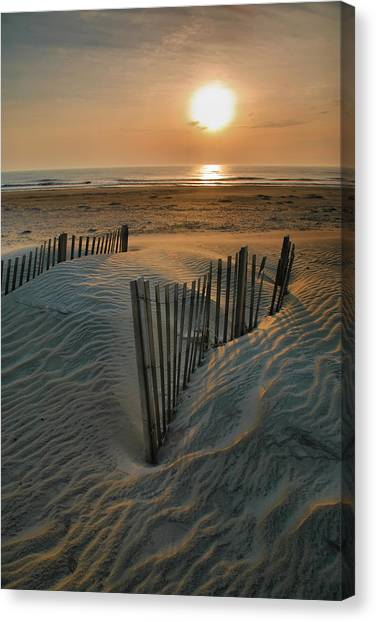 Atlantic Islands Canvas Print - Sunrise Over Hatteras by Steven Ainsworth