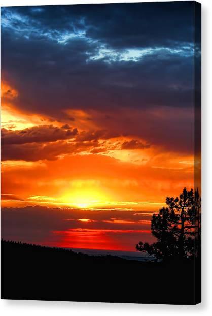Sunrise Over Keystone Canvas Print