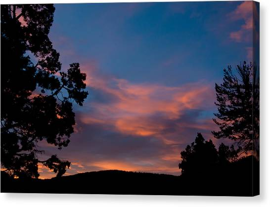 Sunrise Over Mammoth Campground Canvas Print