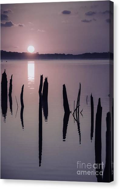 Sunrise Over Manasquan Reservoir Iv Canvas Print
