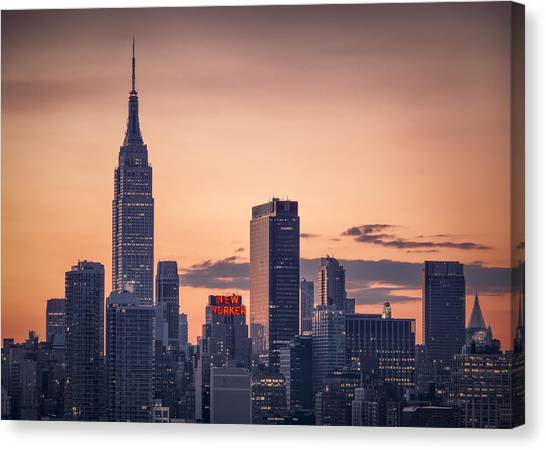 City Sunrises Canvas Print - Manhattan Sunrise by Eduard Moldoveanu