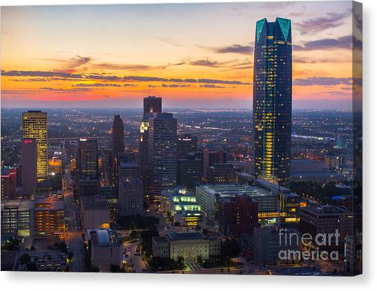 Oks007_okc_morning-56 Canvas Print