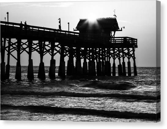 Sunrise Over Pier Canvas Print