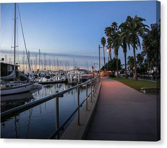 Marinas Canvas Print - Sunrise Over Santa Barbara Marina by Tom Mc Nemar