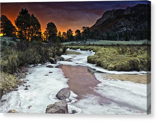 Sunrise Over Sheep Lakes Canvas Print by Tom Wilbert