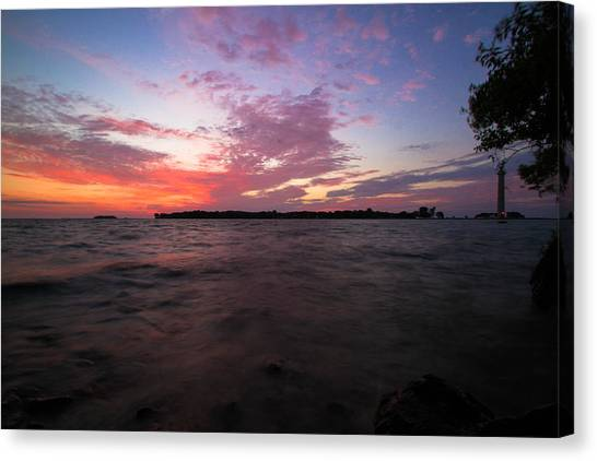 Sunrise Over South Bass Island Canvas Print