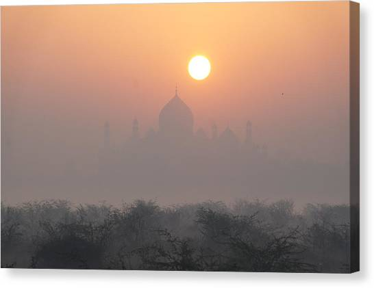 Sunrise Over The Taj Canvas Print