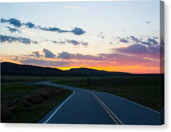 Sunrise Over The Wichitas Canvas Print