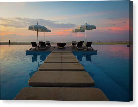 Sunrise Over Tourist Resort, San Jose Canvas Print