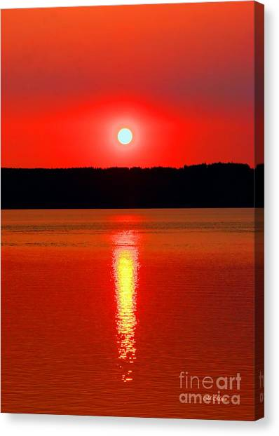 Sunrise Over Whidbey Island Canvas Print