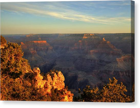 Sunrise Over Yaki Point At The Grand Canyon Canvas Print