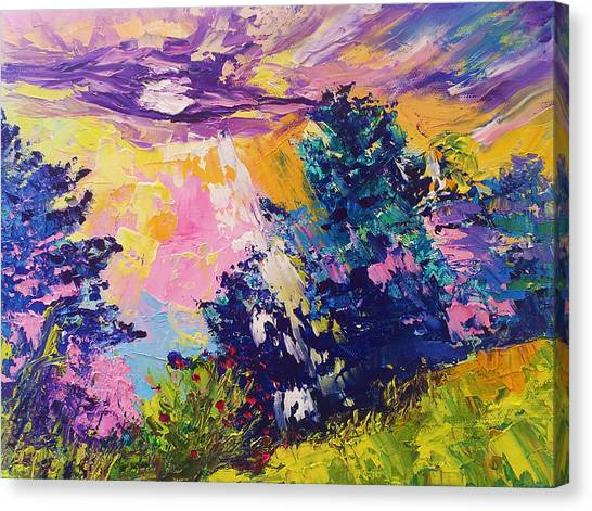 Sunrise Painting Oil On Canvas Ekaterina Chernova Canvas Print