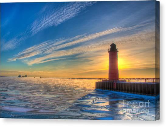 Sunrise Pierhead Canvas Print