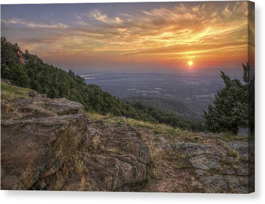 Sunrise Point From Mt. Nebo - Arkansas Canvas Print