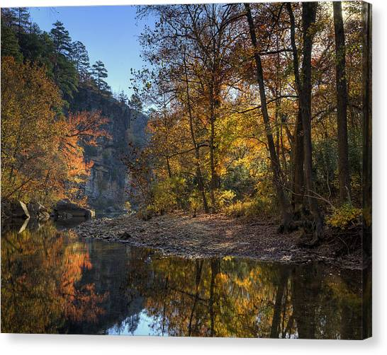 Sunrise Reflection Below Kyles Landing Canvas Print