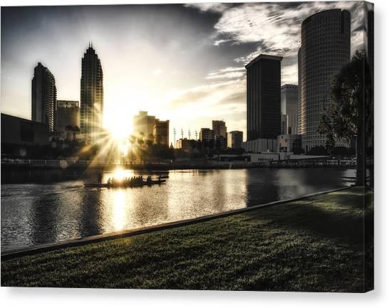 Sunrise Row Canvas Print