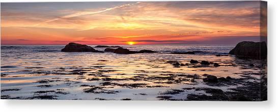 Sunrise Silhouettes Odiorne Point Canvas Print