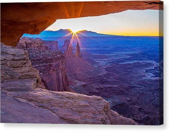 Sunrise Through Mesa Arch Canvas Print