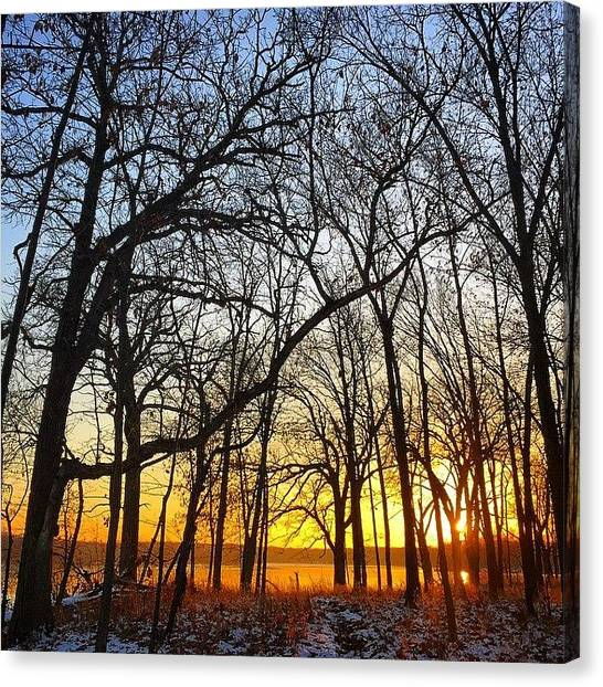 Lake Sunrises Canvas Print - Sunrise Through The Arch - November 2014 by Jeremiah Nelson