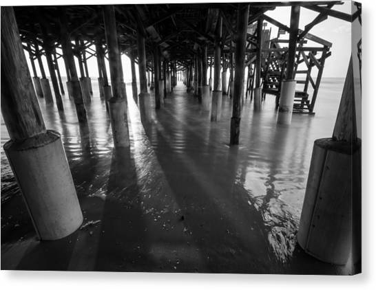 Sunrise Under Pier Canvas Print