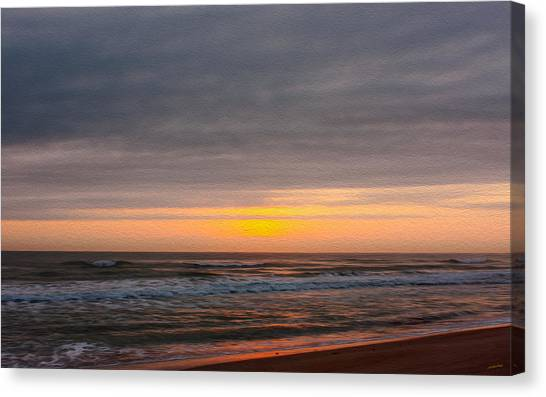 Sunrise Under The Clouds Canvas Print