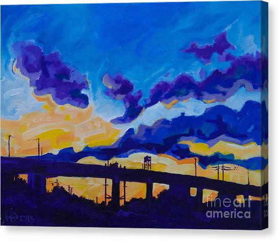 Sunrise Under The Overpass Canvas Print
