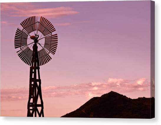 Sunrise Windmill Canvas Print