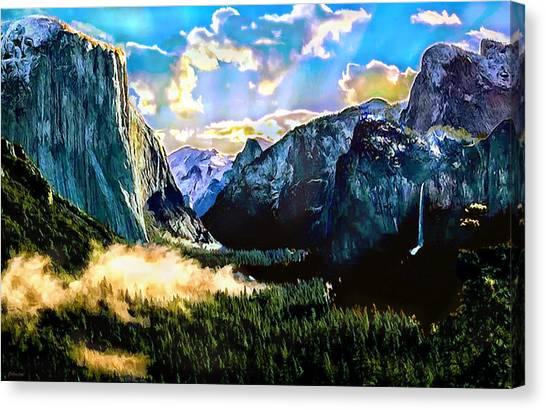 Sunrise Yosemite Valley Nationalpark Canvas Print