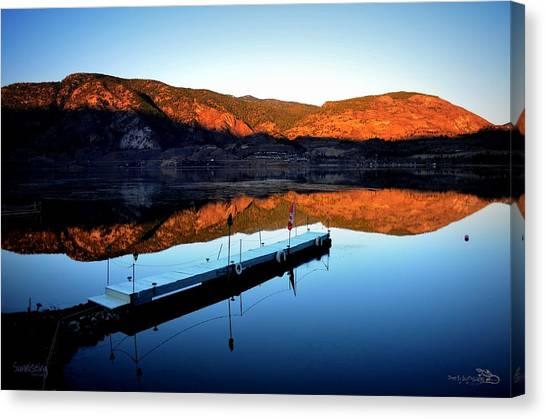 Sunrising - Skaha Lake 3-18-2014 Canvas Print