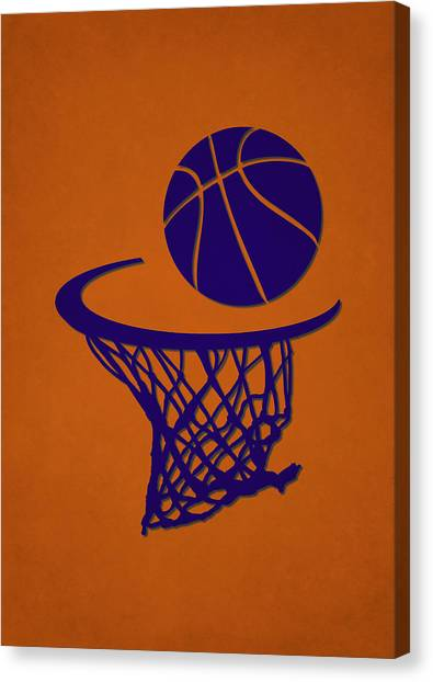 Phoenix Suns Canvas Print - Suns Team Hoop2 by Joe Hamilton
